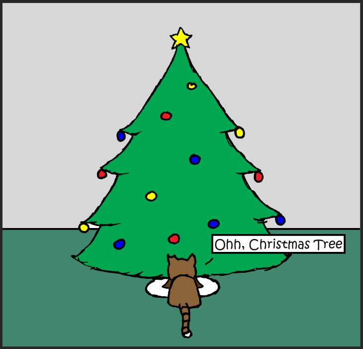 iizcat oh christmas tree comic 1
