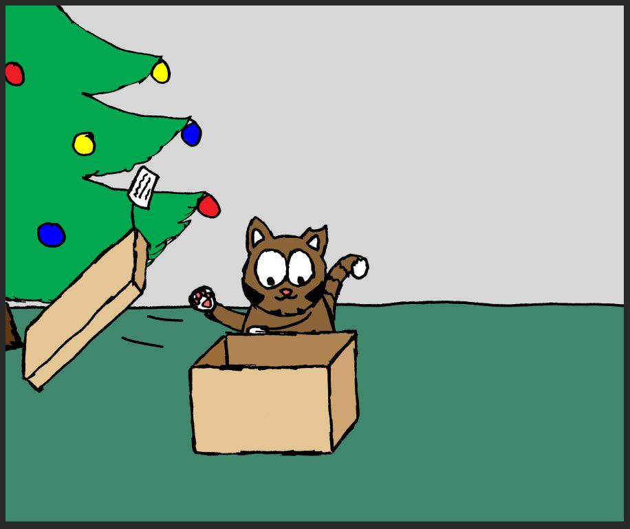 iizcat christmas box comic 2
