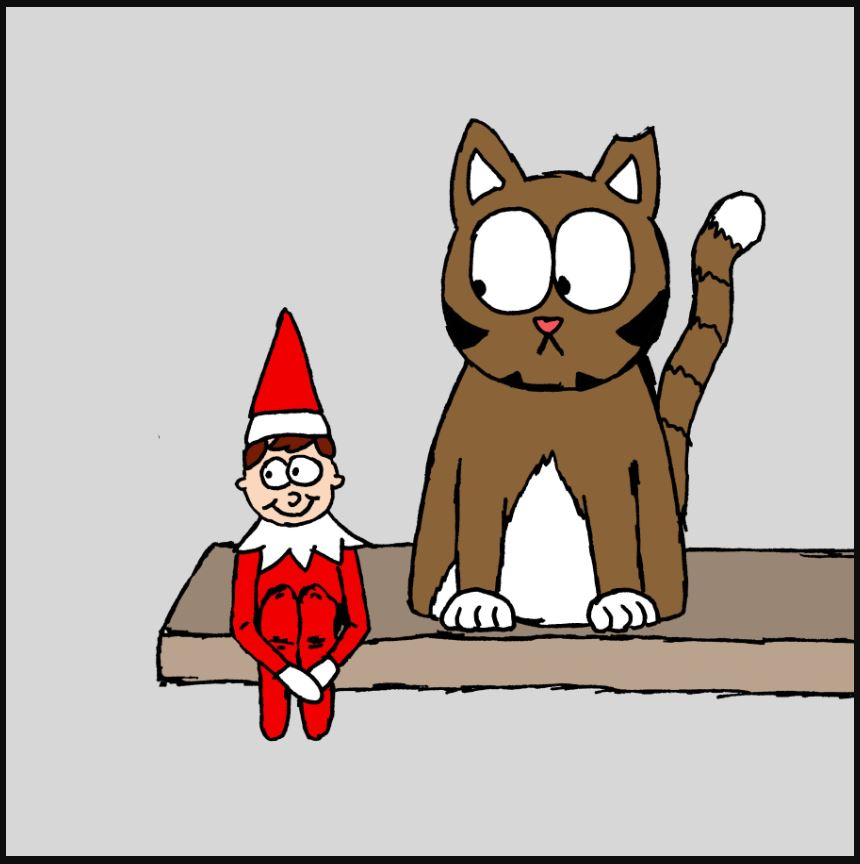 iizcat elf on the shelf comic 1