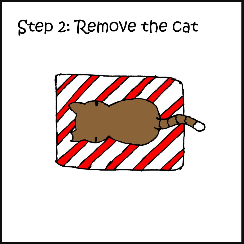 iizcat how to wrap a present with a cat comic 2