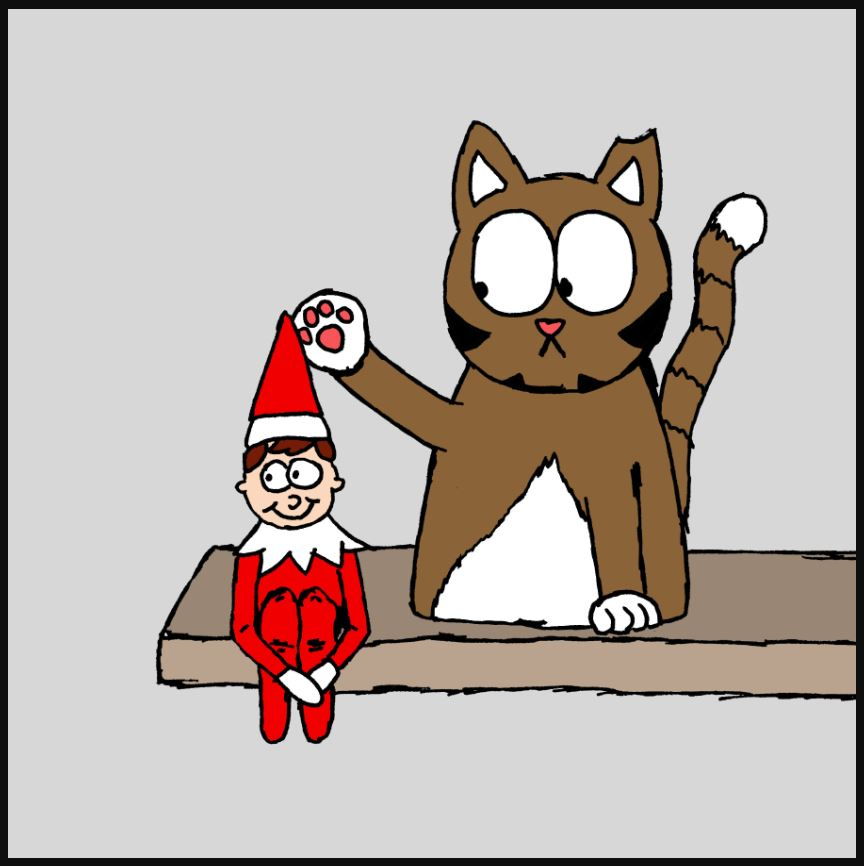 iizcat elf on the shelf comic 2