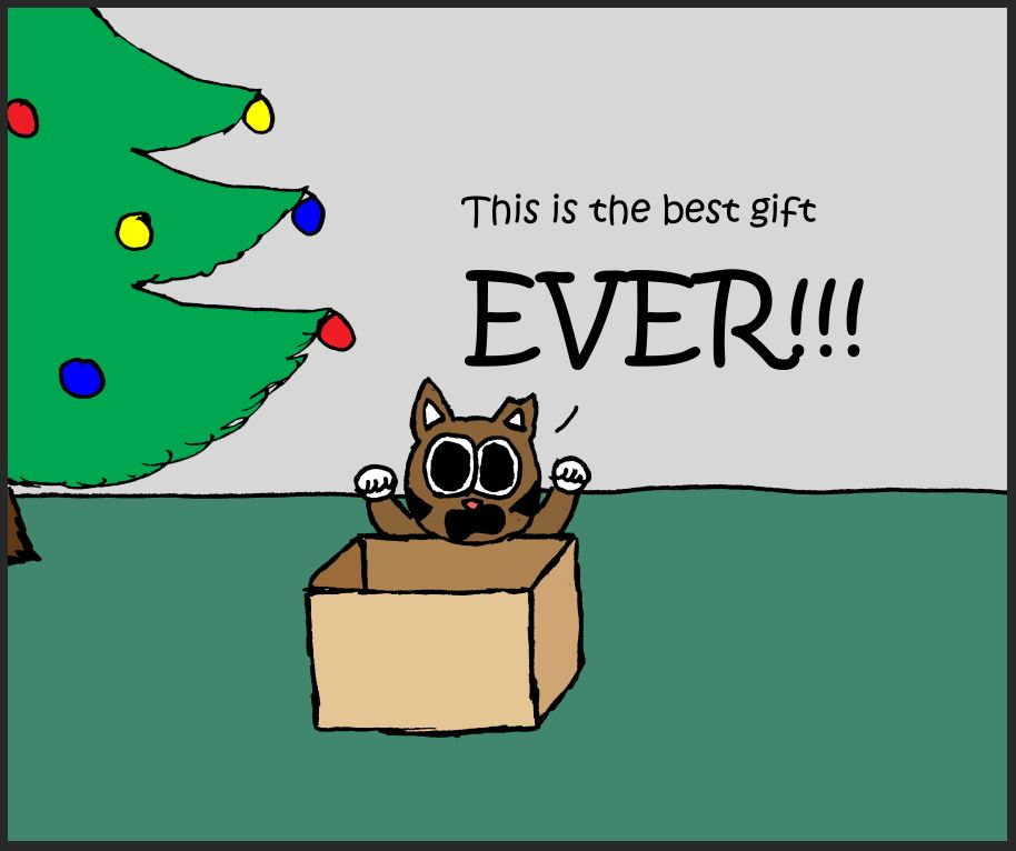 iizcat christmas box comic 4