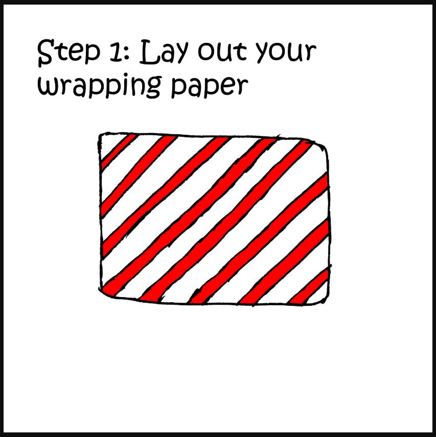 how to wrap a present with a cat comic 1