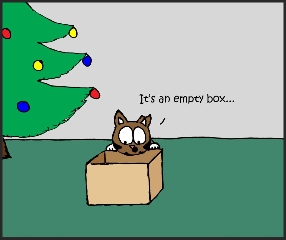 iizcat christmas box comic 3