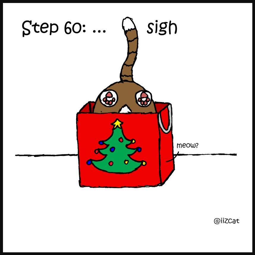 iizcat how to wrap a present cat comic 8