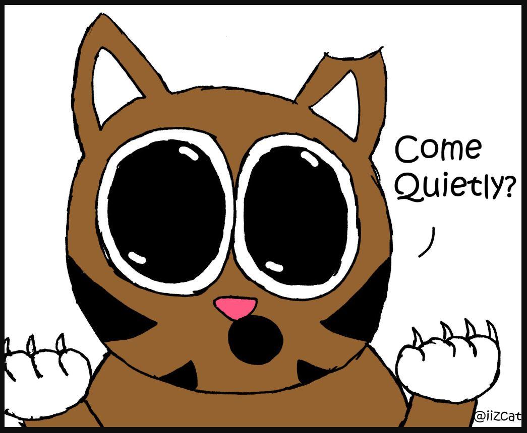 iizcat come quietly comic 4