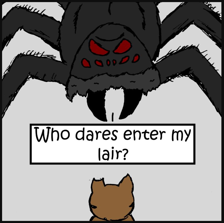 iizcat cat vs spider comic 1