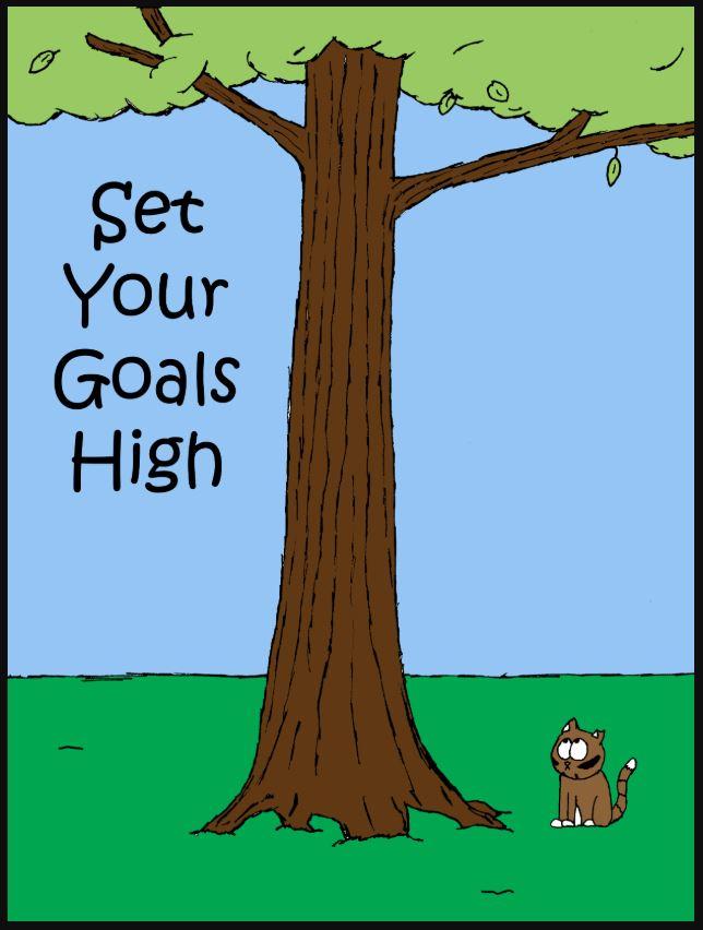 iizcat set your goals high comic 1