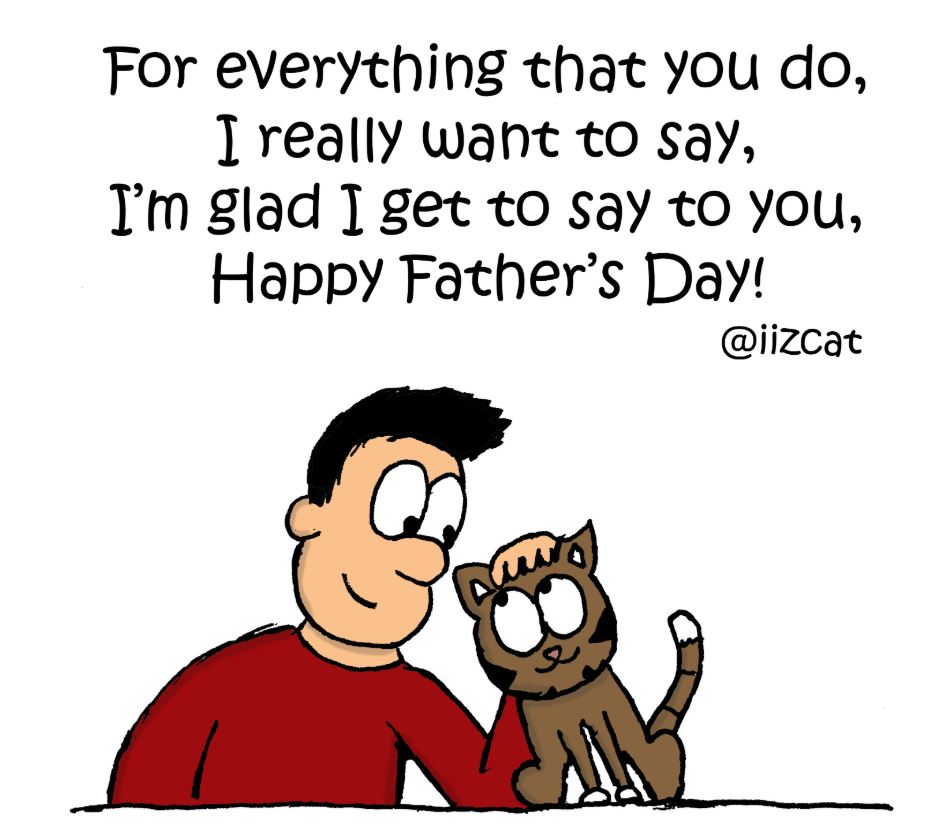 happy fathers day from the cat