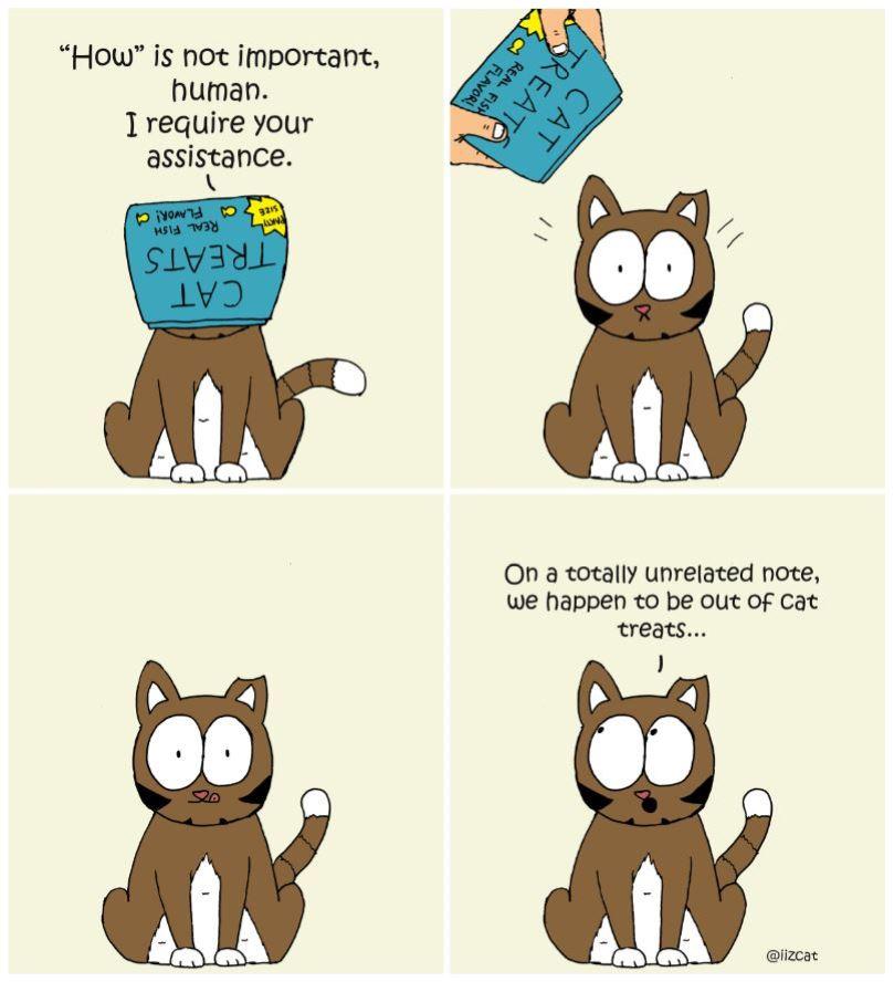 cat head stuck in treat comic 5