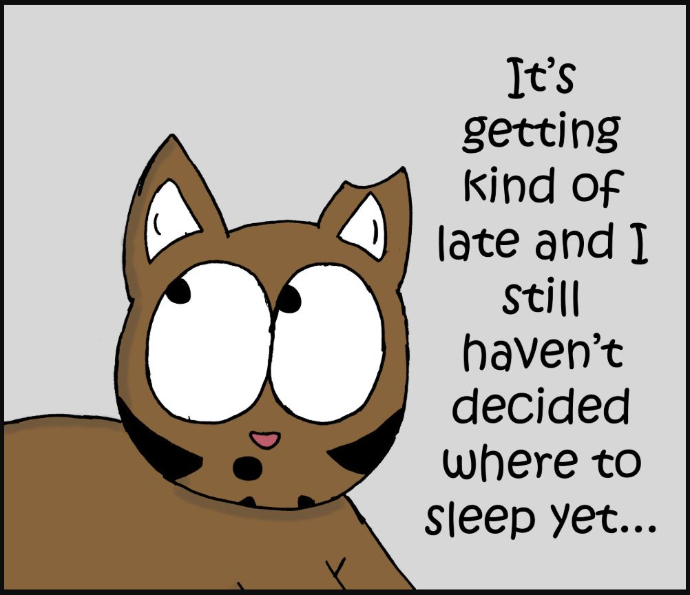 iizcat sleepy cat comic 1