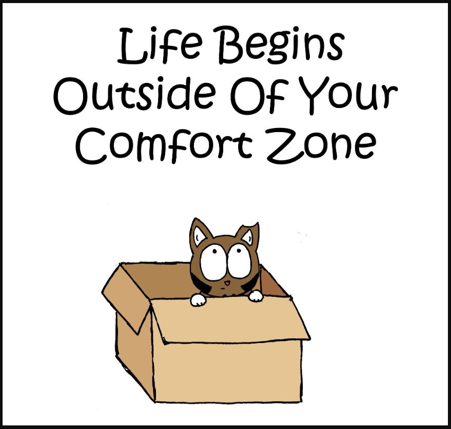 life begins outside of your comfort zone comic 1