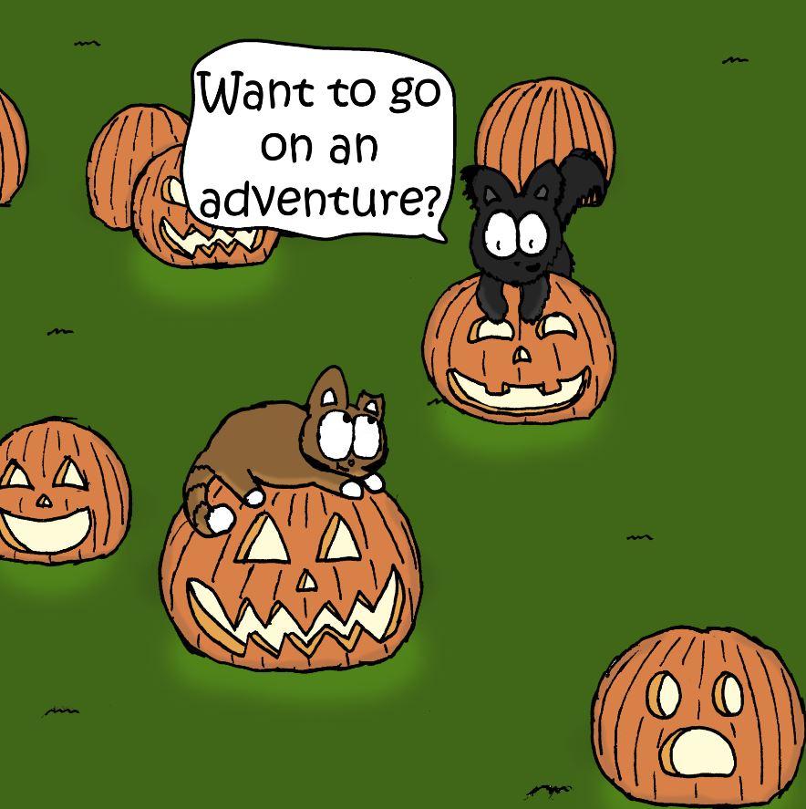 spooky cat comics