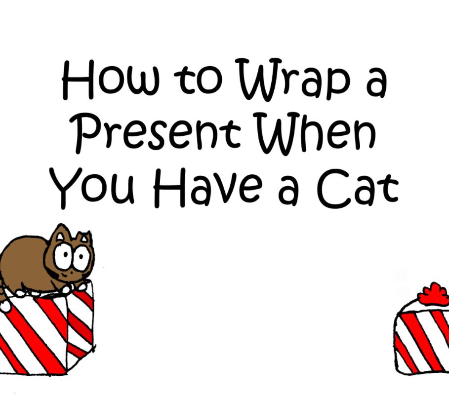how to wrap a present when you have a cat